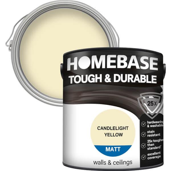 Homebase Tough & Durable Matt Paint - Candlelight Yellow 2.5L