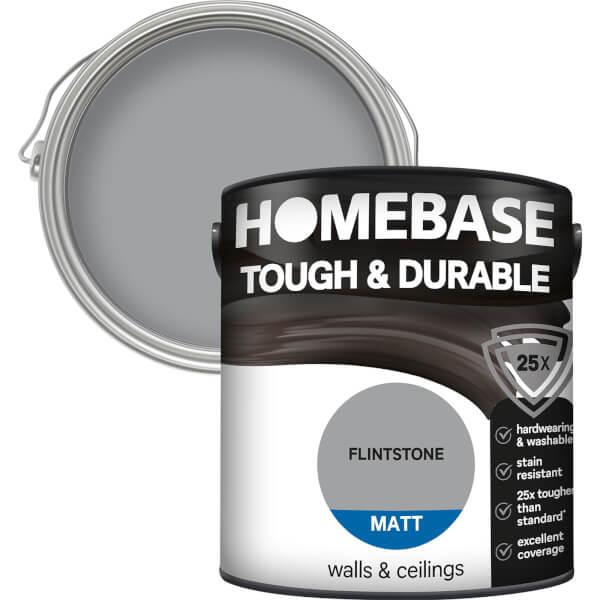 Homebase Tough & Durable Matt Paint - Flintstone 2.5L