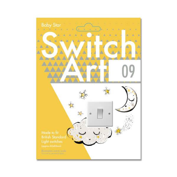 Light Switch Art Stickers - Baby Star