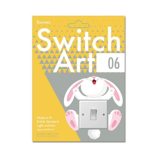 Light Switch Art Stickers - Bunnies