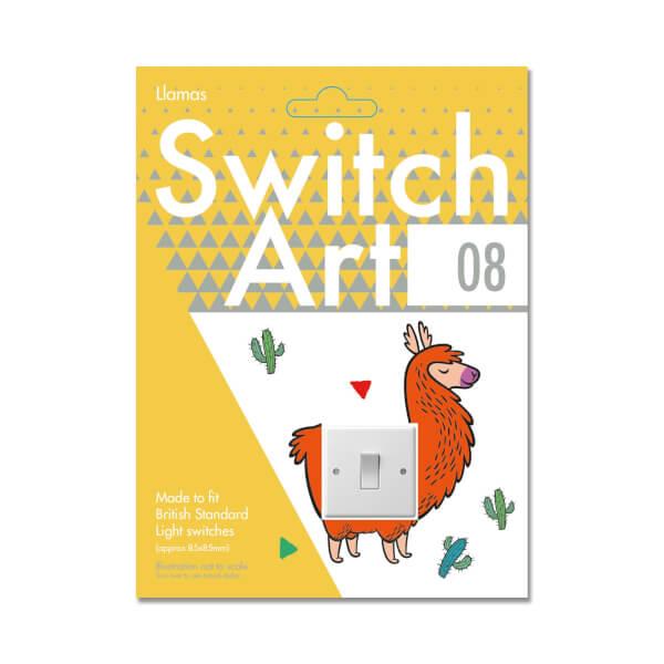 Light Switch Art Stickers - Llamas