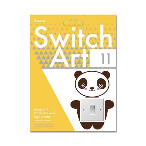 Light Switch Art Stickers - Kawaii