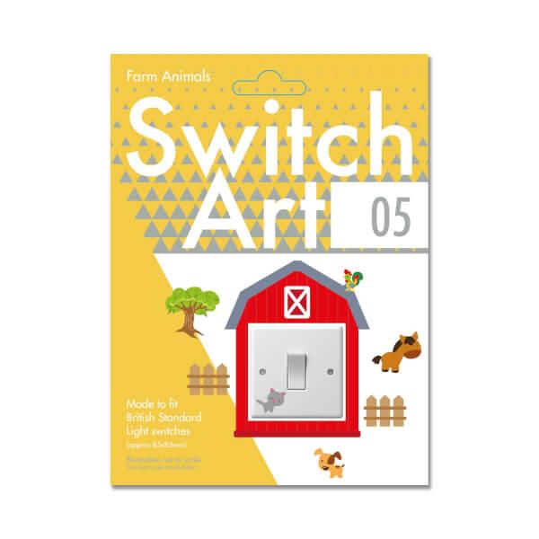 Light Switch Art Stickers - Farm Animals