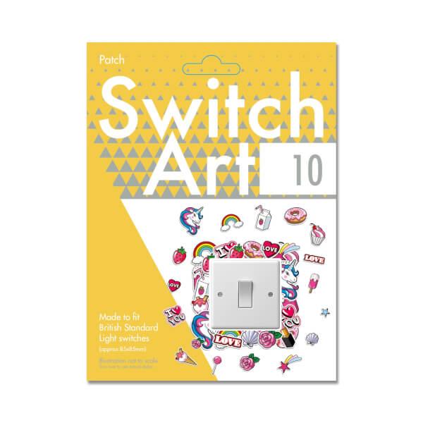Light Switch Art Stickers - Patch