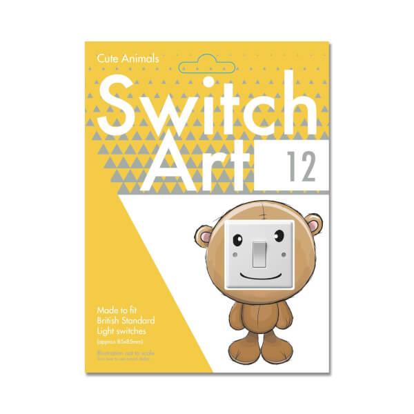 Light Switch Art Stickers - Cute Animals