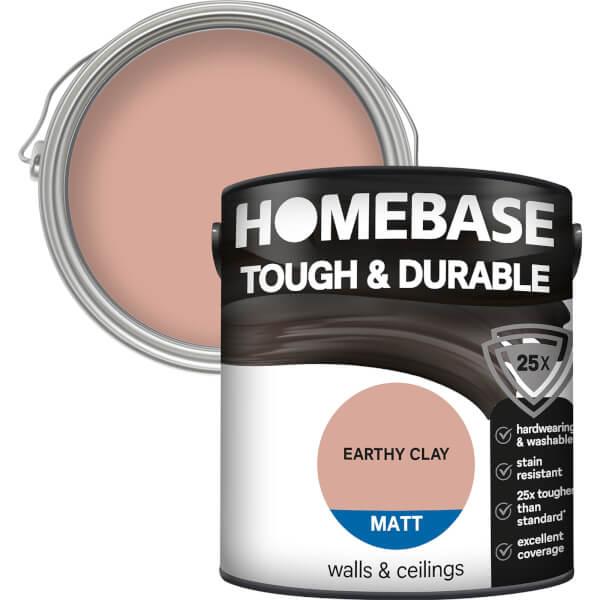Homebase Tough & Durable Matt Paint - Earth Clay 2.5L