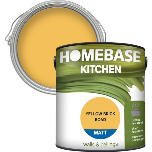 Homebase Kitchen Matt Paint - Yellow Brick Road 2.5L