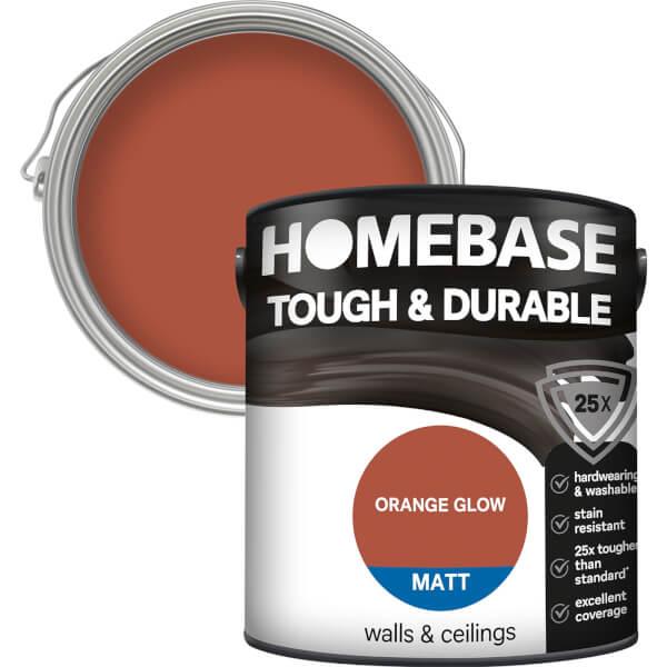 Homebase Tough & Durable Matt Paint - Orange Glow 2.5L
