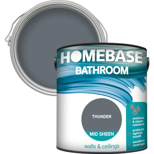 Homebase Bathroom Mid Sheen Paint - Thunder 2.5L