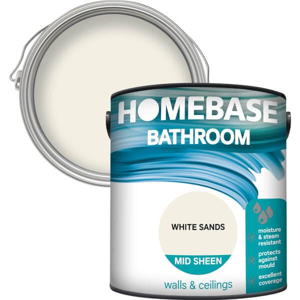Homebase Bathroom Mid Sheen Paint - White Sands 2.5L