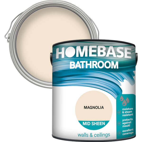 Homebase Bathroom Mid Sheen Paint - Magnolia 2.5L