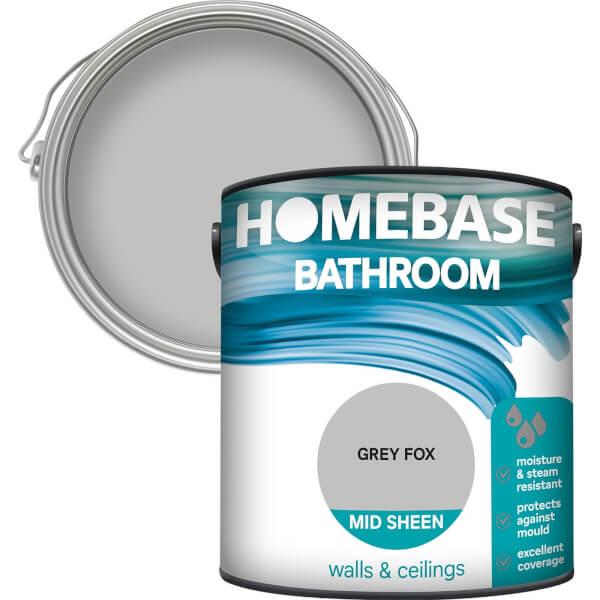 Homebase Bathroom Mid Sheen Paint - Grey Fox 2.5L