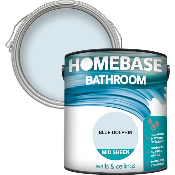 Homebase Bathroom Mid Sheen Paint - Blue Dolphin 2.5L