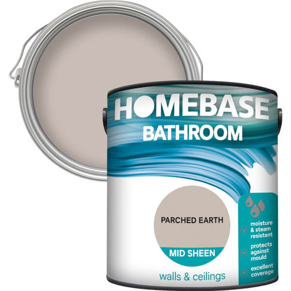Homebase Bathroom Mid Sheen Paint - Parched Earth 2.5L