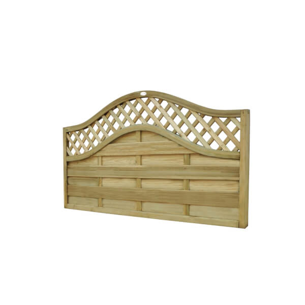 1.8m x 0.9m Pressure Treated Decorative Europa Prague Fence Panel - Pack of 3