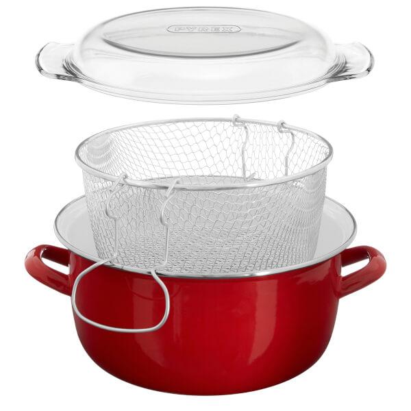 Deep Fat Fryer - 5L - Red Enamel