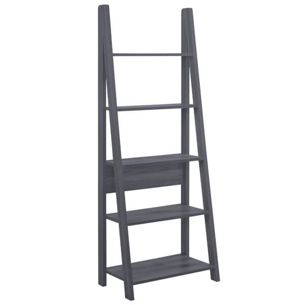 Tiva Ladder Bookcase - Black