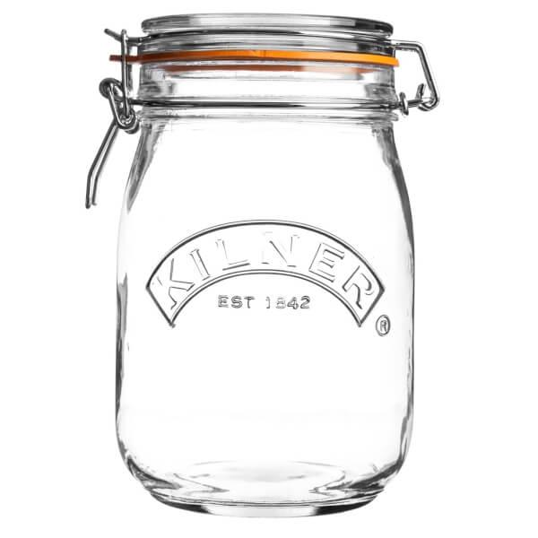 Kilner Clip Top Round Jar - 1L