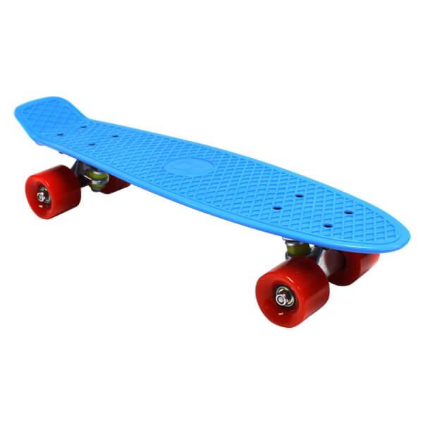 Charles Bentley 22 Retro Mini Plastic Skateboard Blue