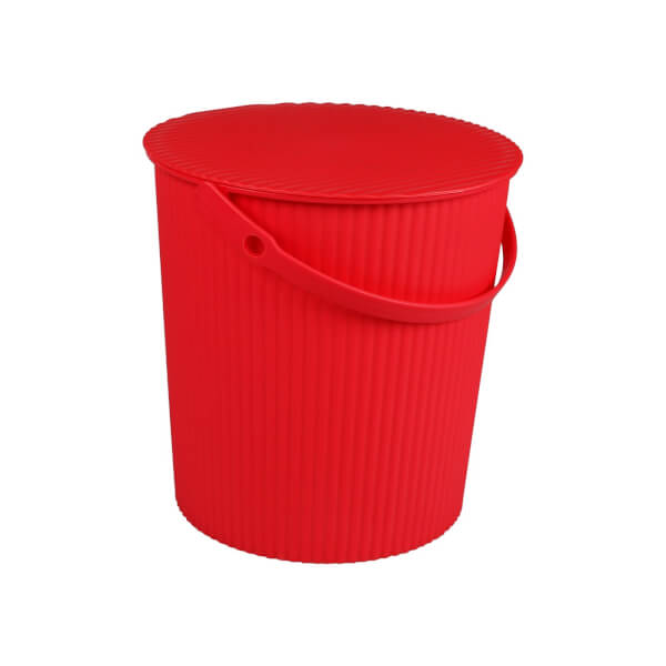 11L Round Crinkle Bucket - Pink