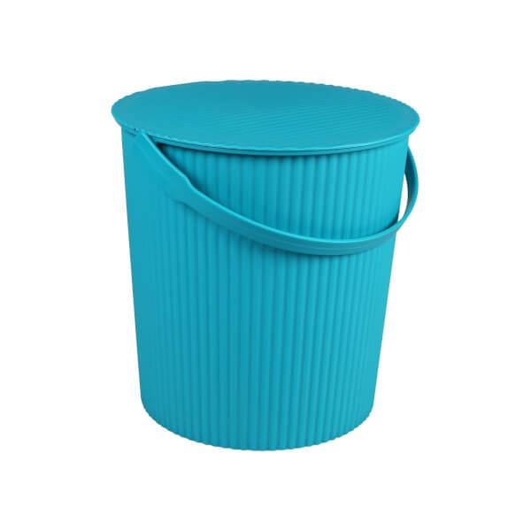 11L Round Crinkle Bucket - Blue