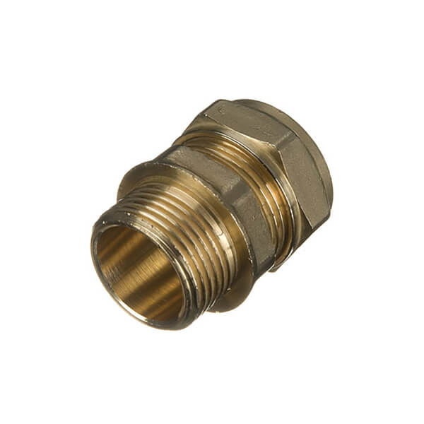 Compression Male Coupler 22mm x 0.75in