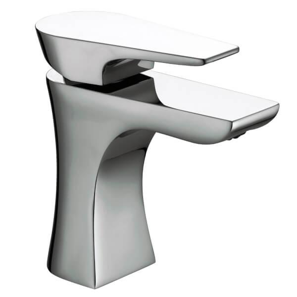 Hourglass Basin Mixer - Chrome