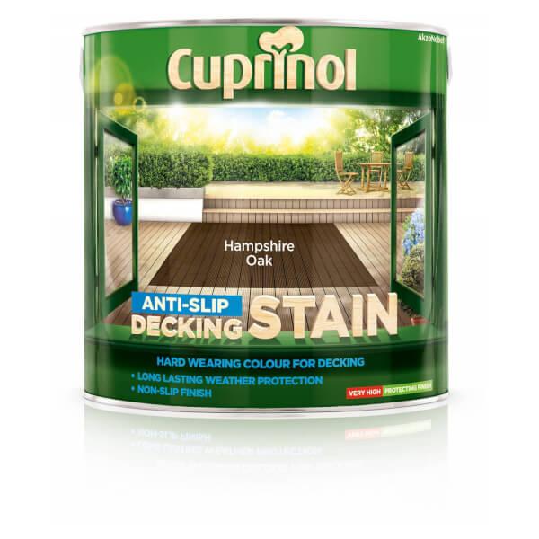 Cuprinol Anti Slip Decking Stain - Hampshire Oak - 2.5L