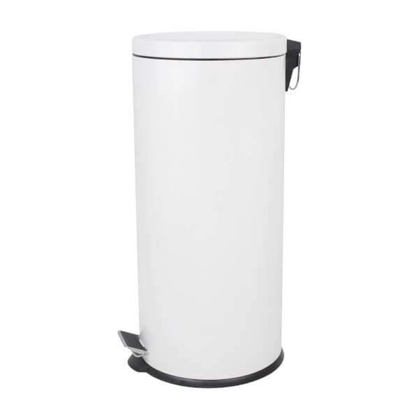 Round Soft Close Pedal Bin - 30L - White