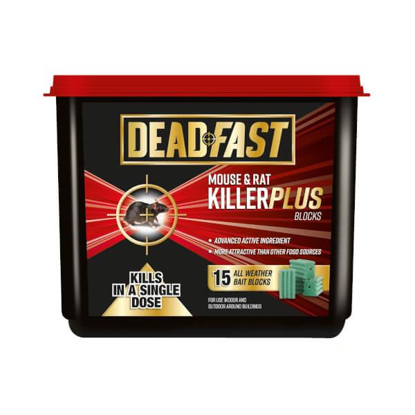 Deadfast Mouse and Rat Killer Plus 15 Block