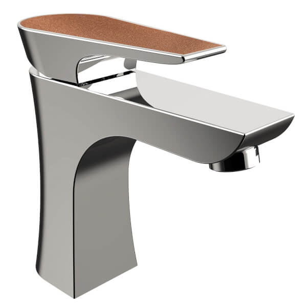 Metallix Hourglass 1 Hole Bath Filler - Copper Radiance