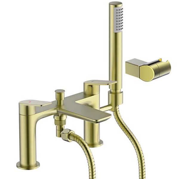 Bathstore Aero Shower Mixer Tap - Brushed Brass