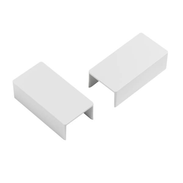 D-Line 25x16mm Trunking Clip-On Coupler 2 Pack - White