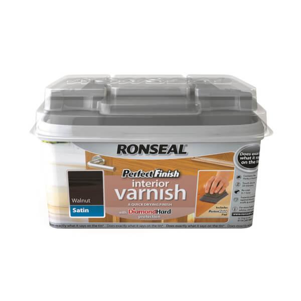 Ronseal Perfect Finish Interior Varnish - Walnut Satin 750ml