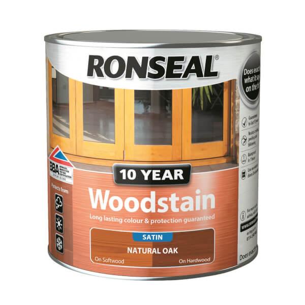 Ronseal 10 Year Woodstain Natural Oak Satin 750ml