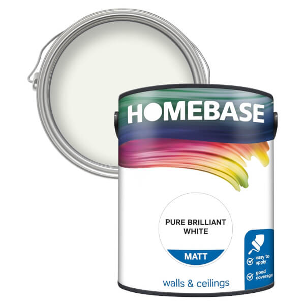 Homebase Matt Paint - Pure Briliant White 5L