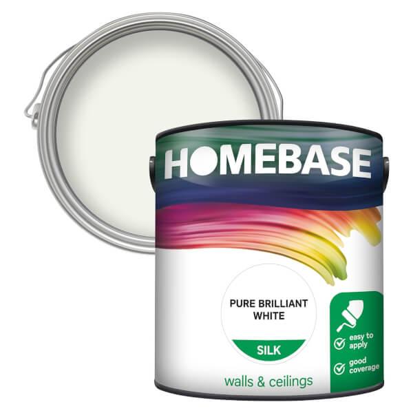 Homebase Silk Paint - Pure Brilliant White 2.5L