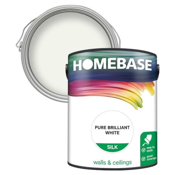 Homebase Silk Paint - Pure Brilliant White 5L