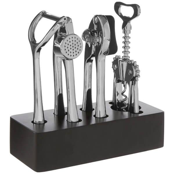 Paragon 5 Piece Chrome Finish Kitchen Gadget Set