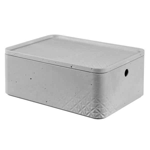 CURVER Beton Box with Lid - 8L (Medium)
