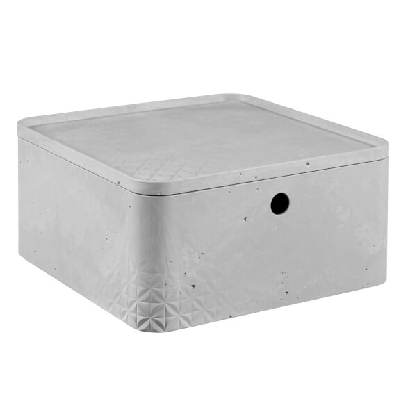 CURVER Beton Box with Lid - 8.5L (Large)