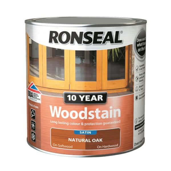 Ronseal 10 Year Woodstain Natural Oak Satin 2.5L