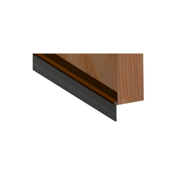 Stormguard PVC Brush Door Bottom Strip - Brown 838mm
