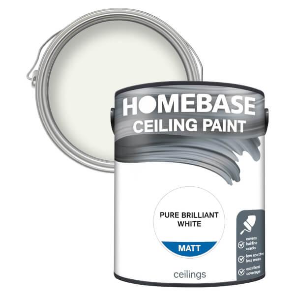 Homebase Ceiling Paint - Pure Brilliant White 5L