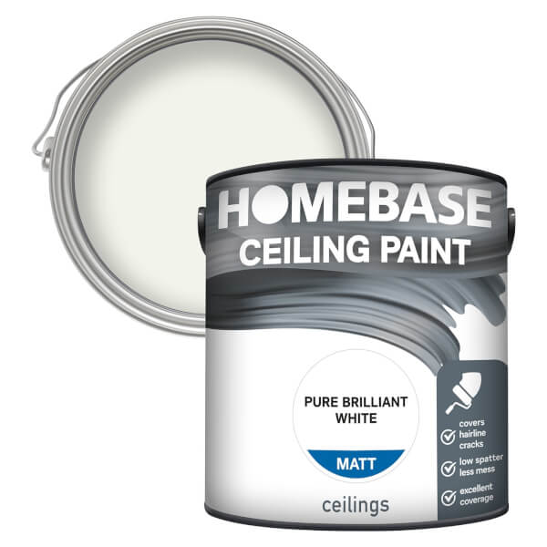 Homebase Ceiling Paint - Pure Brilliant White 2.5L