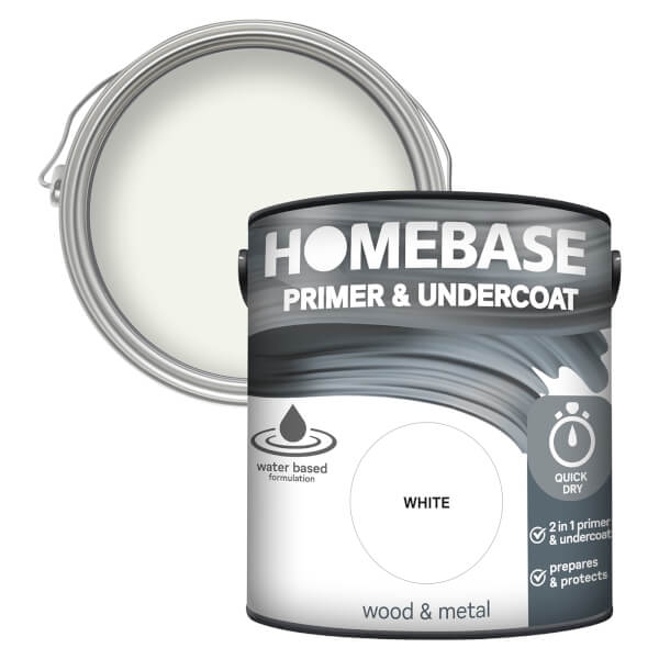 Homebase Interior Quick Dry Primer Undercoat - White 2.5L