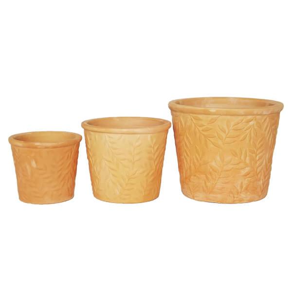 Terracotta Leaf Design Pot 26cm