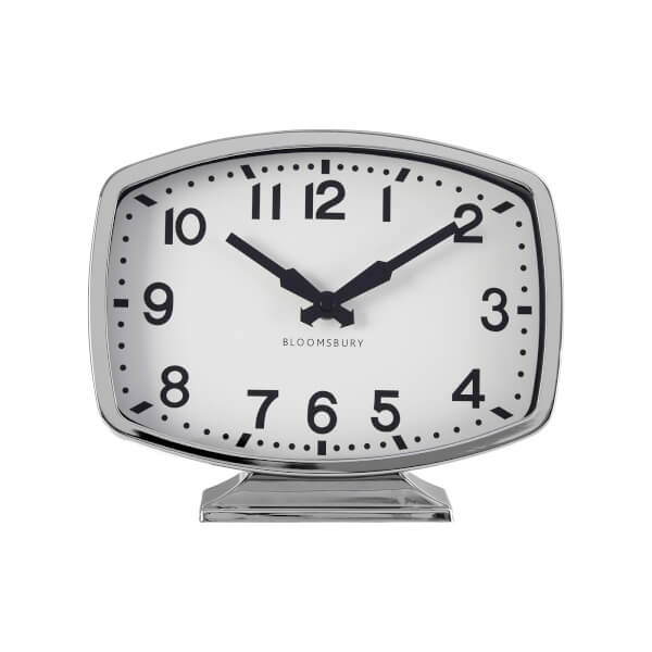 Baillie Table Clock - Chrome