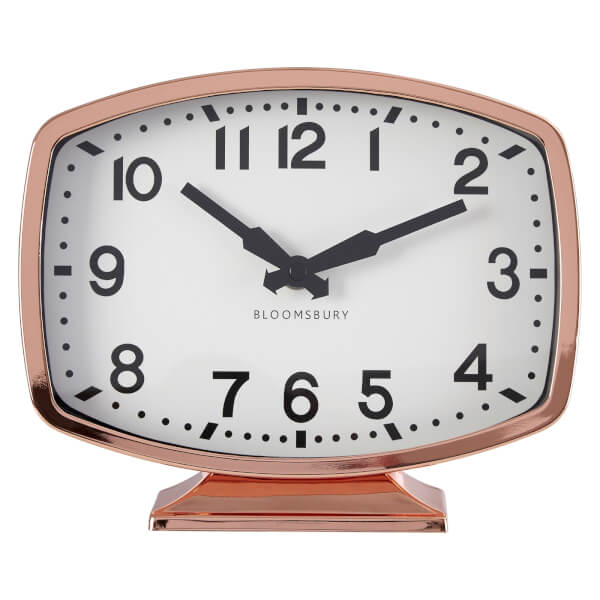 Baillie Table Clock - Rose Gold