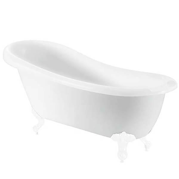 Bathstore Kingham Slipper Roll Top Bath with White Feet